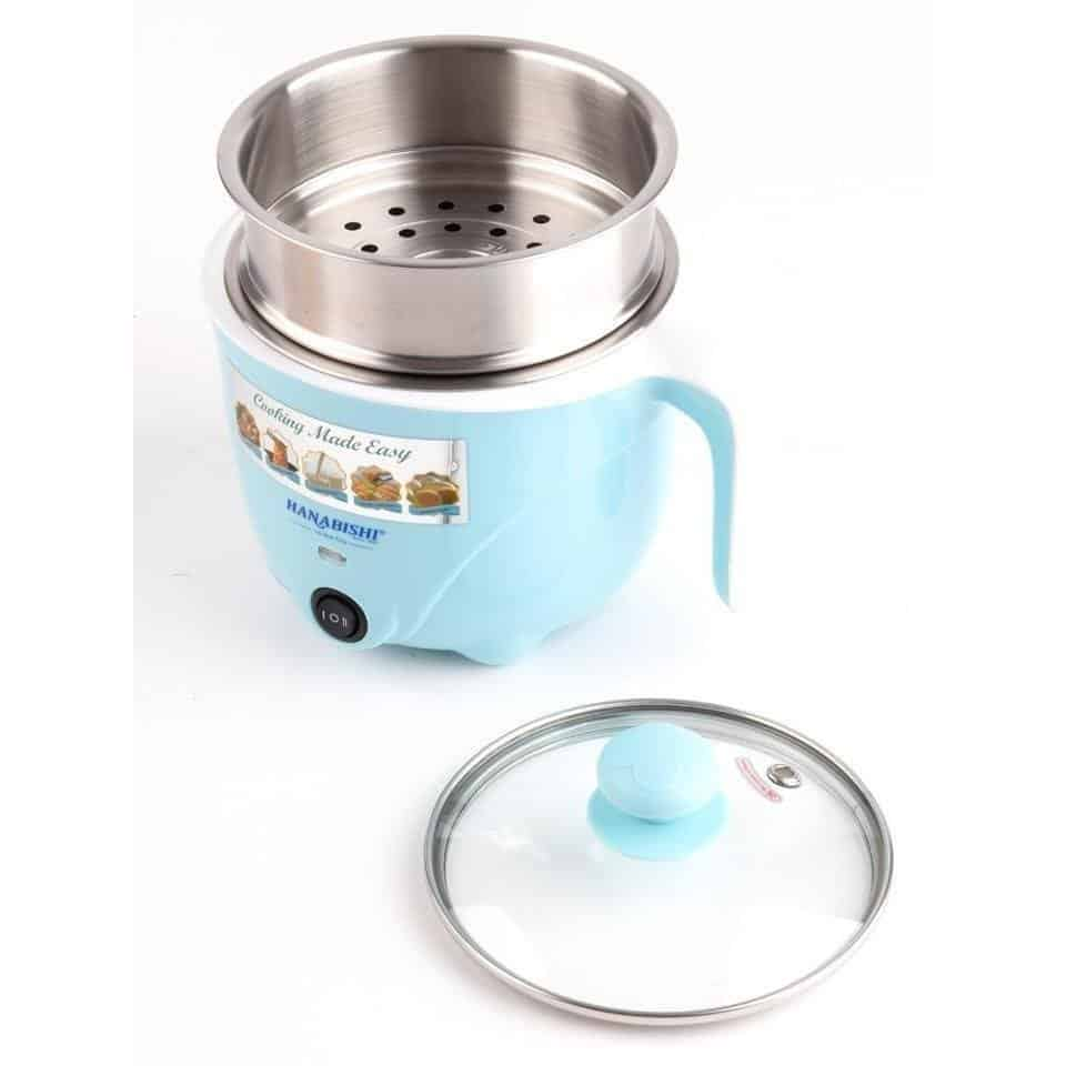 The Hanabishi Mini Multi Cooker With Steamer comes with an inner pot made of 304 stainless steel which is easy to clean and safe. Source: Lazada