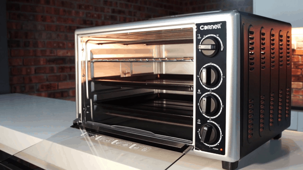 An electric cornell oven with different cooking functions Source: YouTube