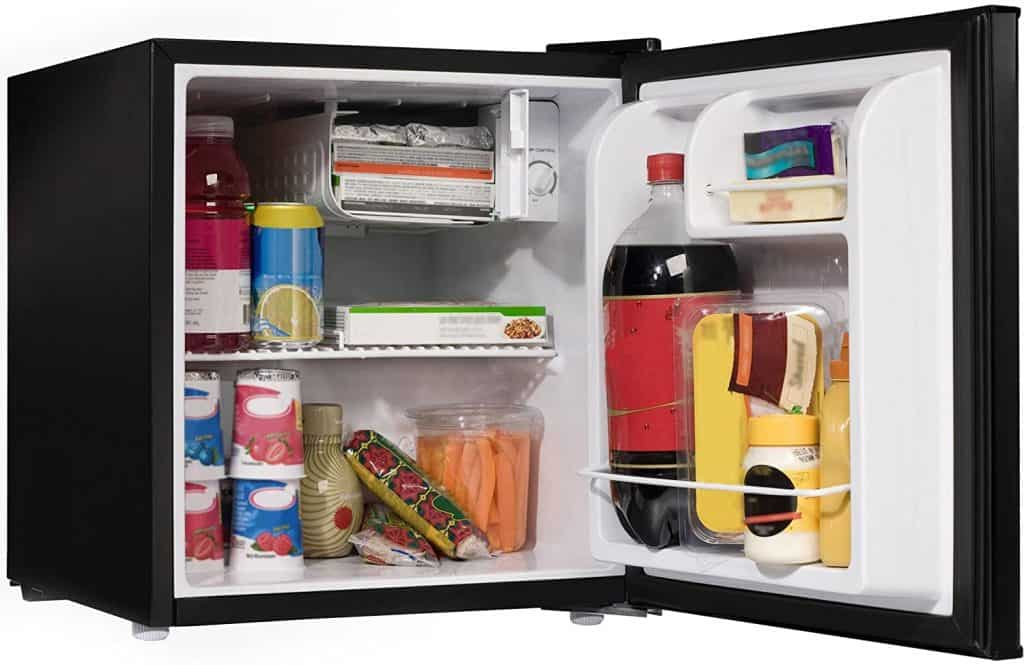 Some mini-freezers still feature interior shelves and compartments.