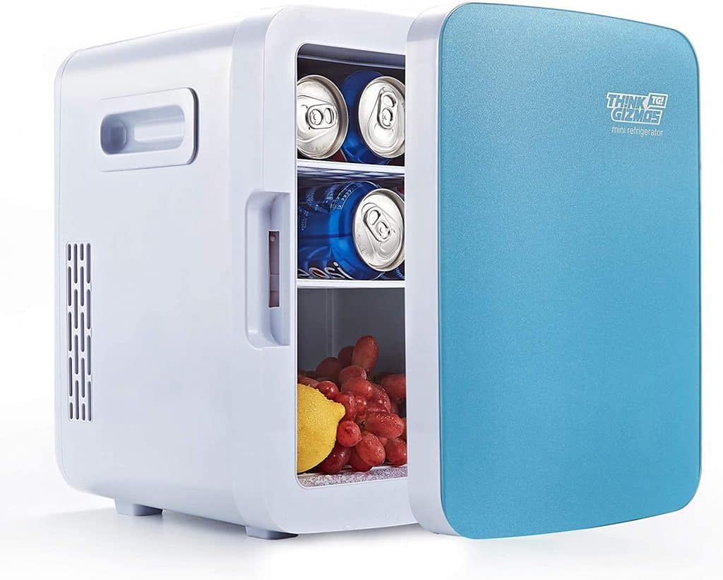 A mini thermoelectric fridge is a portable fridge but it's not so durable.
