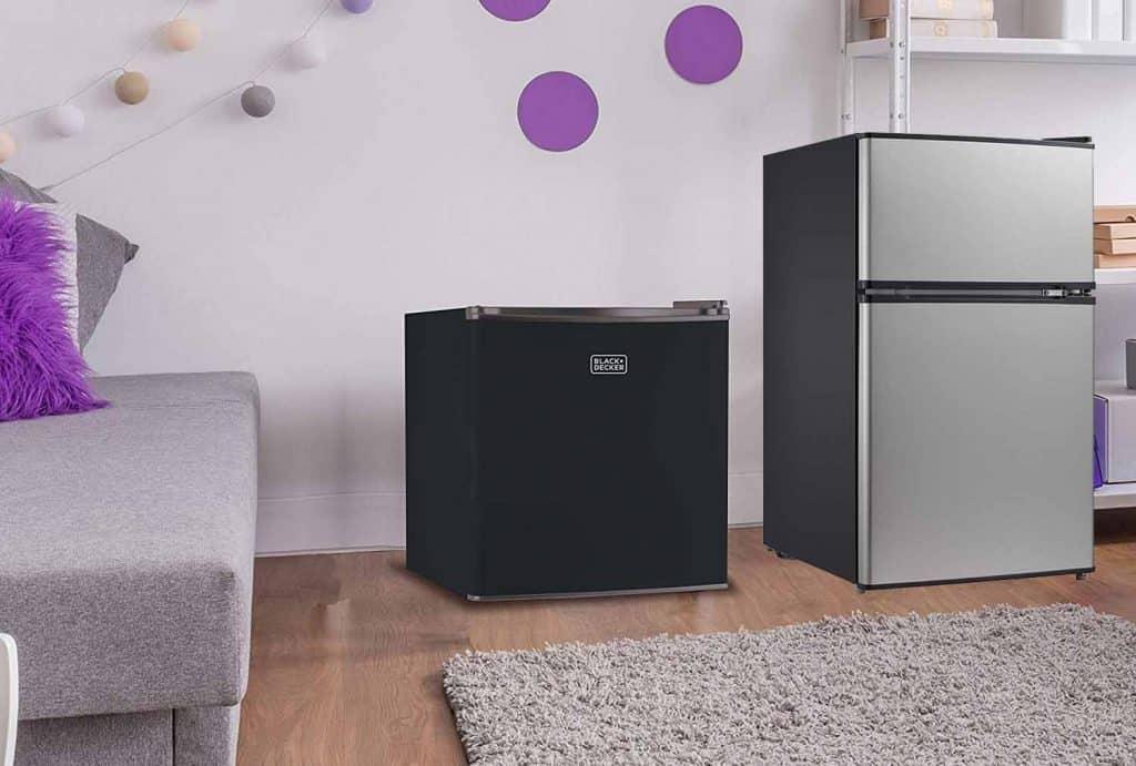 Double door fridges have separate door and compartments for the freezer. Min fridge Malaysia - Shop Journey