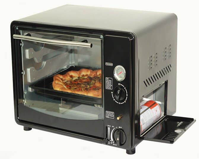 A portable gas oven for efficient baking