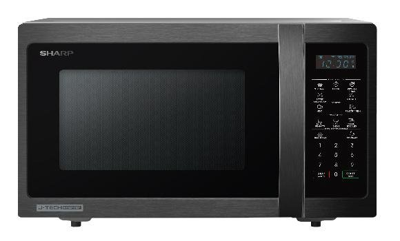 Sharp 20L microwave with black and gray finish. Cheap Microwave Malaysia - Shop Journey.