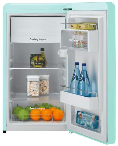 Windawoo Compact retro fridge features a fresh keeper and cooling keeper. Mini Fridge Malaysia - Shop Journey