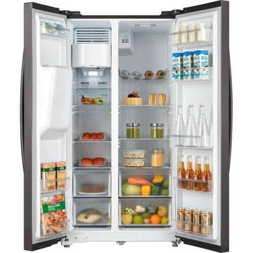 A side-by-side fridge provides convenient organization of food items and drinks. Best Refrigerator Malaysia - Shop Journey