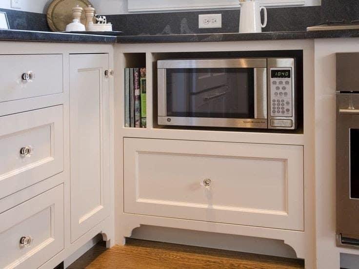 Under counter microwave in the modern kitchen.