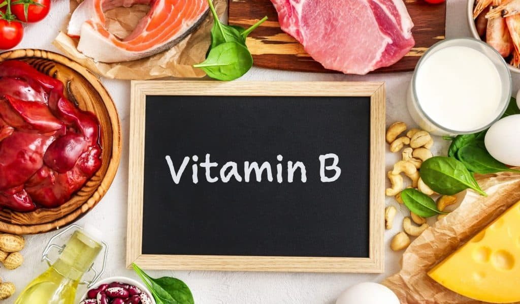 A vitamin B complex supplement helps to combat deficiencies.