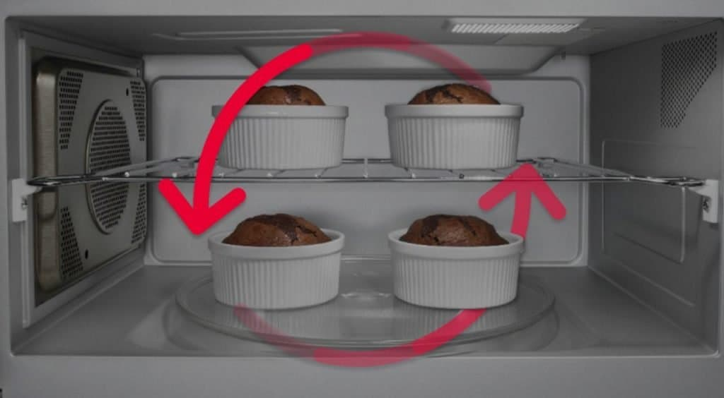 Use convection features for baking cakes.
