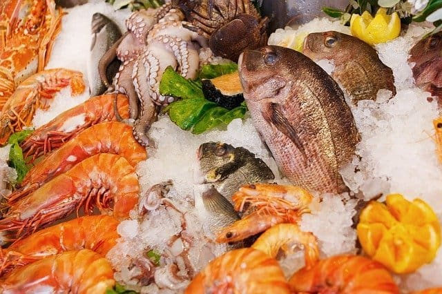 Seafood is rich in vitamin B12.